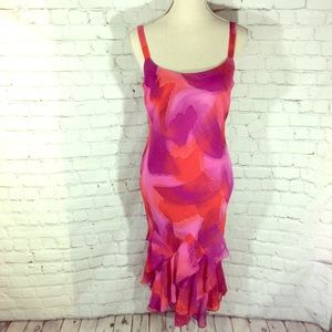 Joseph Ribkoff Designer dress Salsa 10 Midi ruffle